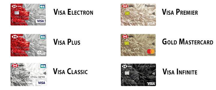 6 cartes bancaires hsbc