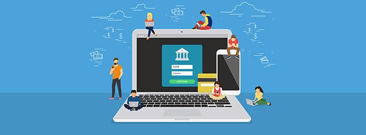 illustration banque en ligne