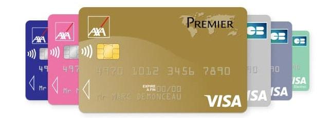 cartes bancaires axa banque