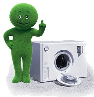 mascotte cetelem et machine à laver
