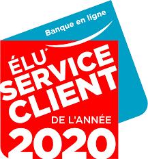 badge élu service client de l'année 2020