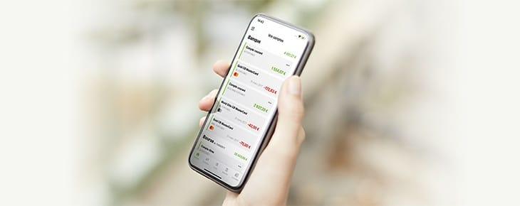 application smartphone fortuneo